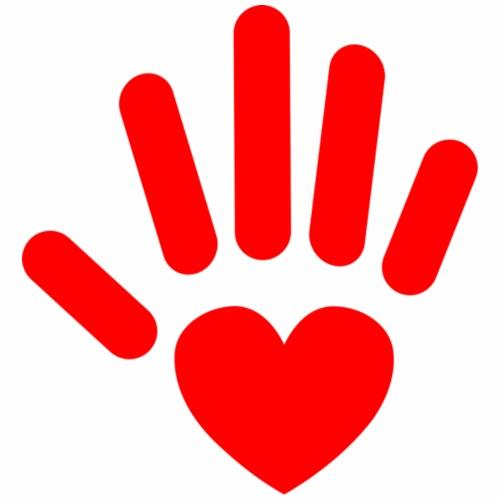 Red Heart Hand - Men's Premium T-Shirt