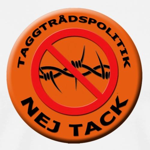 Taggtrådspolitik Ny - Premium-T-shirt herr