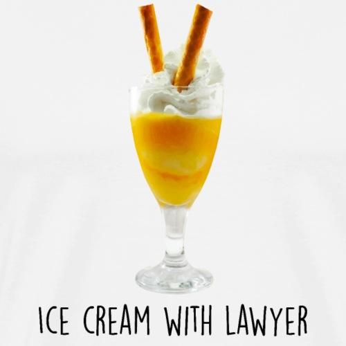 lawyer Ice cream - Mannen Premium T-shirt