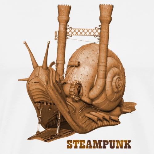 Steampunk Schnecke Retro Dampfmaschine Zahnrad - Männer Premium T-Shirt