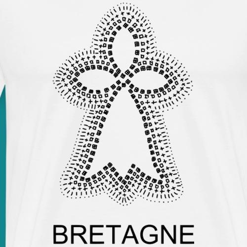 hermine bretonne noire - T-shirt Premium Homme