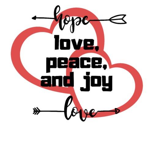 love peace joy hope - T-shirt Premium Homme