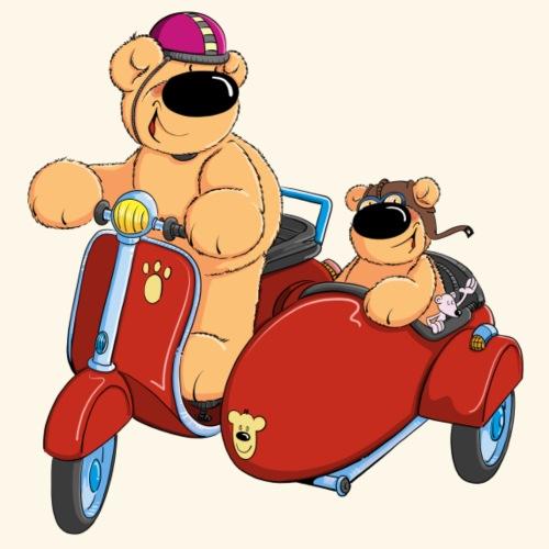 Zwei Bären fahren Roller - Männer Premium T-Shirt