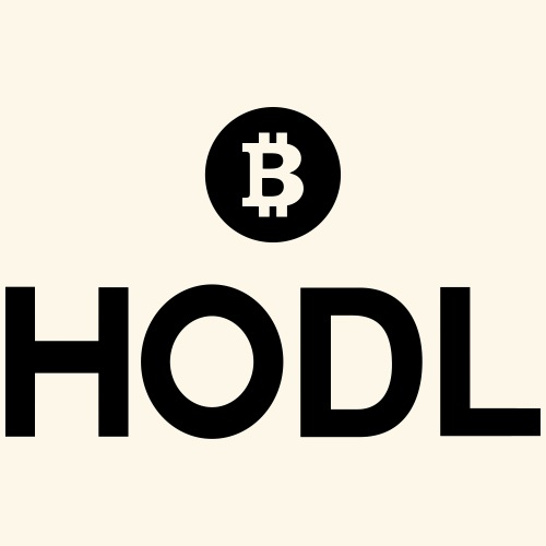 HODL, Meme, Bitcoin, BTC, Cryptos - Men's Premium T-Shirt