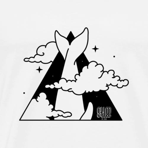 SPACE WHALE - Maglietta Premium da uomo