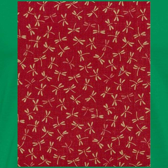 Motif dragon sur fond rouge