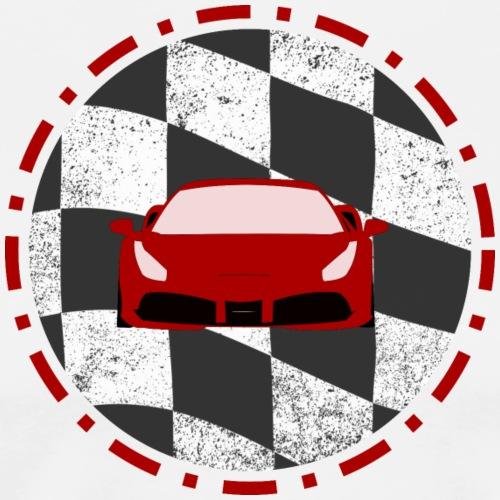 Logo Rennwagen - Männer Premium T-Shirt
