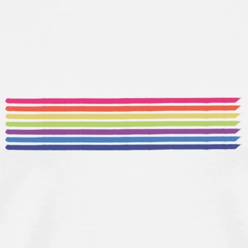 Värilliset viivat - Miesten premium t-paita