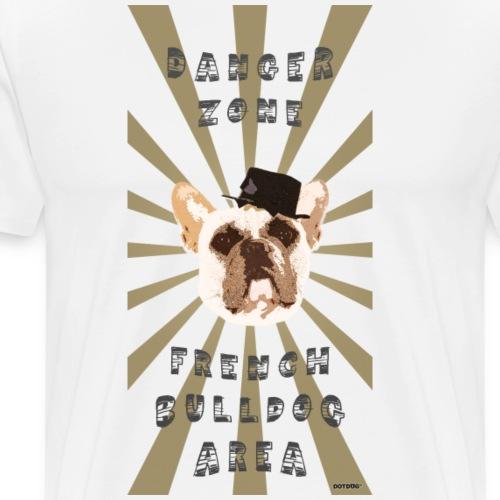 Danger Zone Bulldogge - Männer Premium T-Shirt
