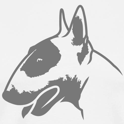 Bullterrier head_4light_1c - Männer Premium T-Shirt
