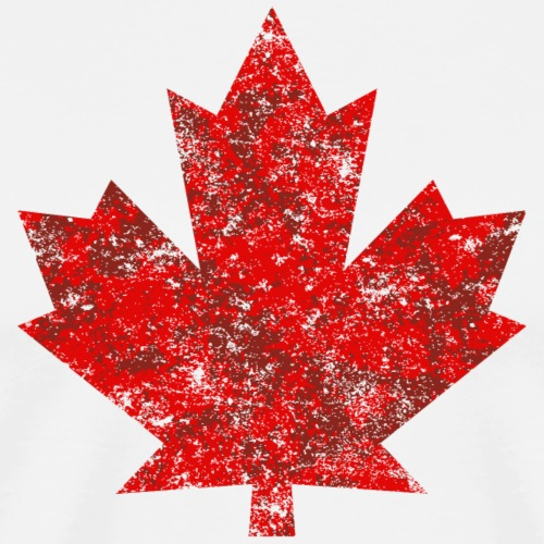 Kanada Canada Maple Leaf Ahornblatt Grunge Amerika - Men's Premium T-Shirt