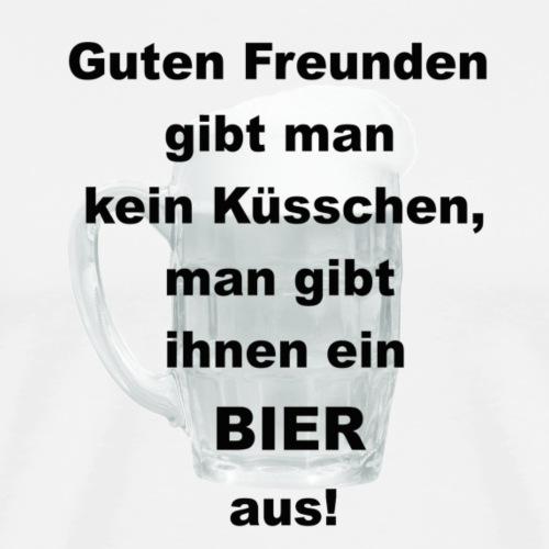 Bier Glas Vatertag Himmelfahrt - Männer Premium T-Shirt