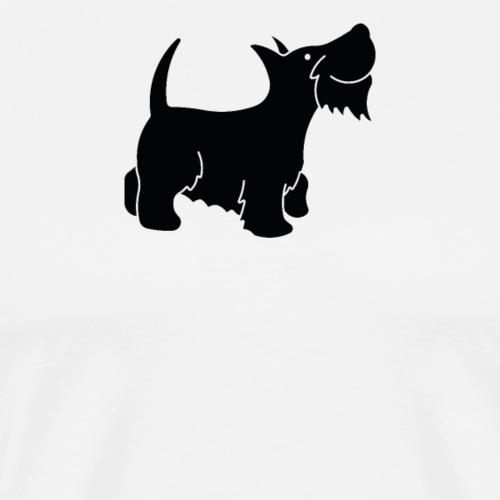 Hund in schwarz - Männer Premium T-Shirt