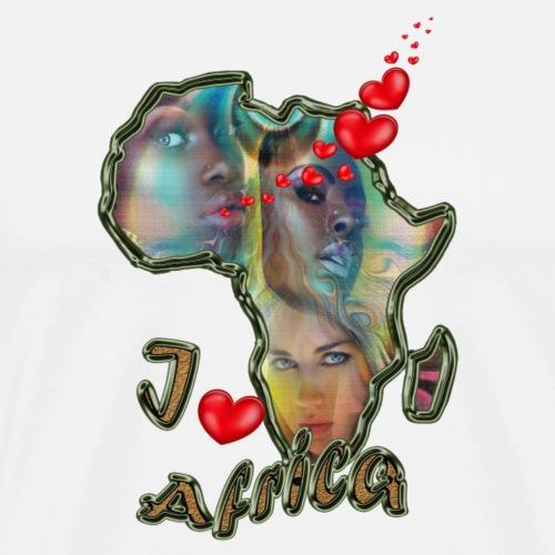I love africa - Men's Premium T-Shirt