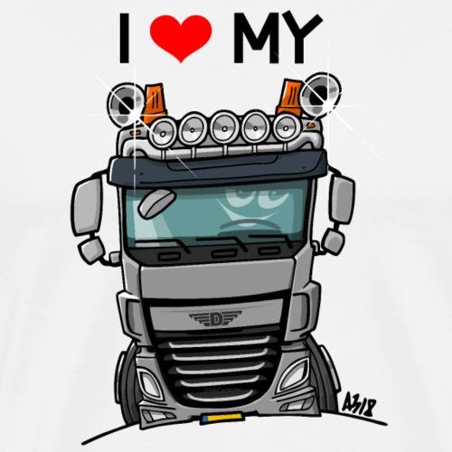 0700 I love my D truck - Mannen Premium T-shirt