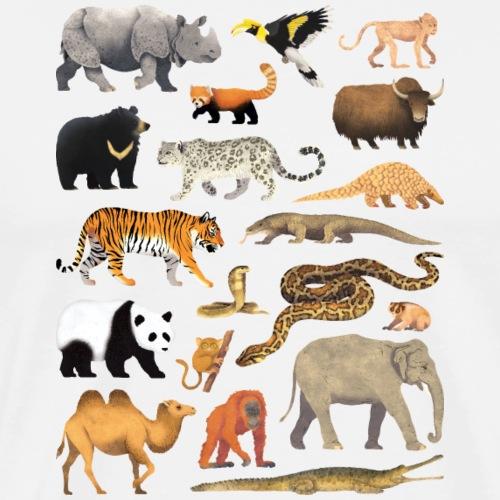 Animals of Asia 01 - T-shirt Premium Homme