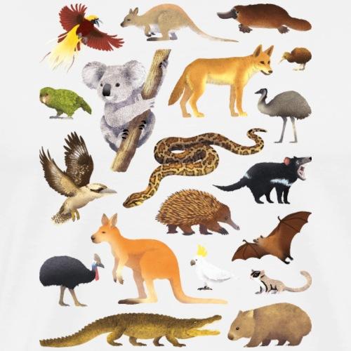 Animals of Oceania 01 - T-shirt Premium Homme