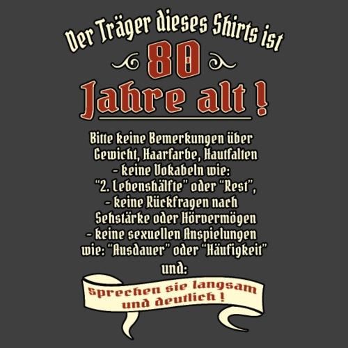 NEU Geburtstags Shirt Träger ist 80 RAHMENLOS Ge - Männer Premium T-Shirt