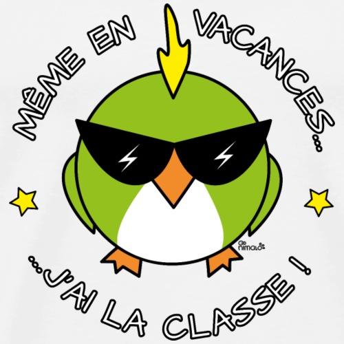Oiseau Cool, Prof, La classe WT - T-shirt Premium Homme