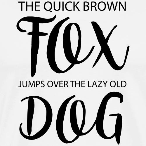 fox and dog - Männer Premium T-Shirt