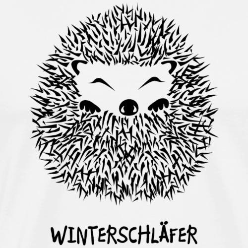 igel winterschlaf winterschläfer müde pennen - Männer Premium T-Shirt
