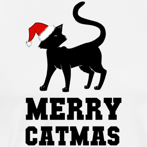 Merry Catmas - Silhouette - Männer Premium T-Shirt