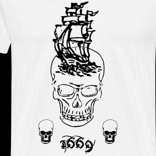 1669 - Miesten premium t-paita