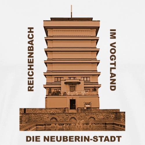 Reichenbach Vogtland Wasserturm Neuberin - Männer Premium T-Shirt