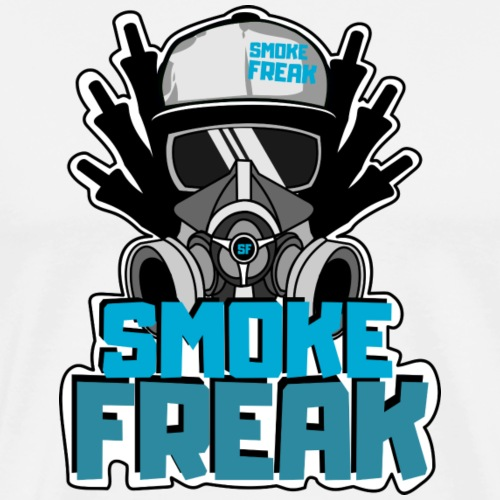 smoke freak blau - Männer Premium T-Shirt