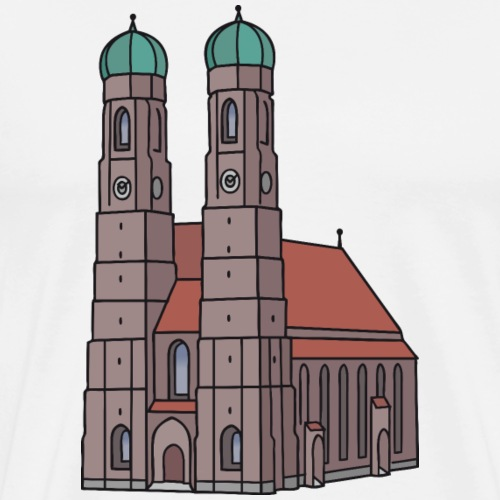 Frauenkirche Monaco - Maglietta Premium da uomo