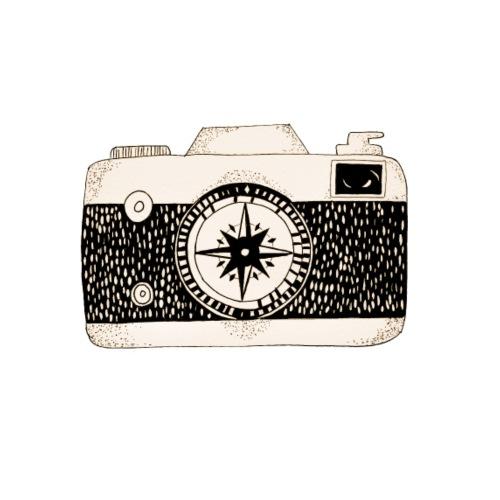 Kompass Kamera Fotografie Geschenk - Männer Premium T-Shirt