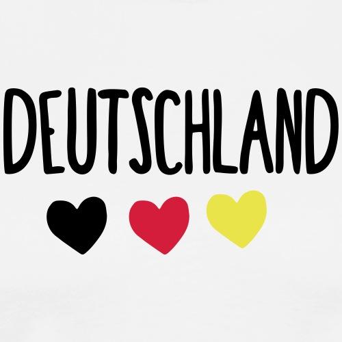 Weltmeisterschaft 2018 DE 1 Herz - Männer Premium T-Shirt