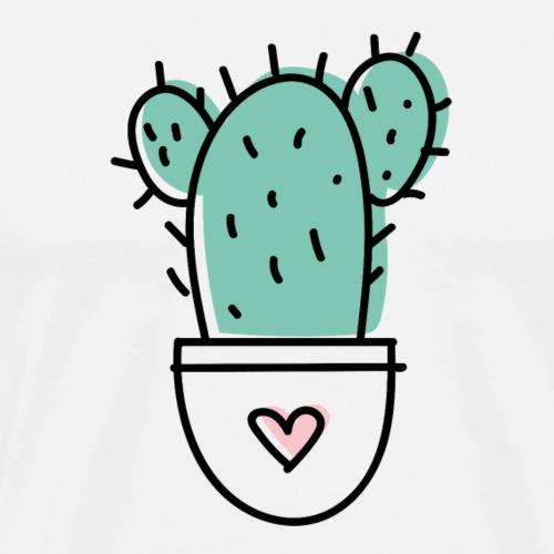 Kaktus Liebe - Männer Premium T-Shirt