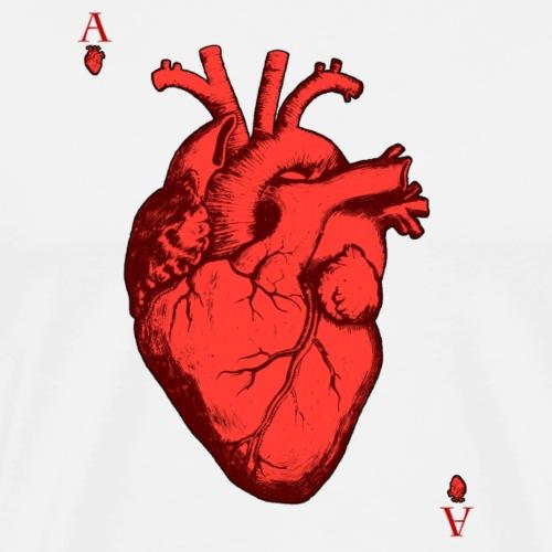 Herz Ass - Männer Premium T-Shirt