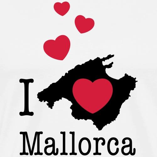 love Mallorca Balearen Spanien Ferieninsel Urlaub - Männer Premium T-Shirt