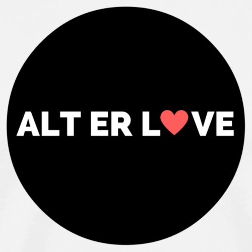 ALT ER LOVE - Premium T-skjorte for menn
