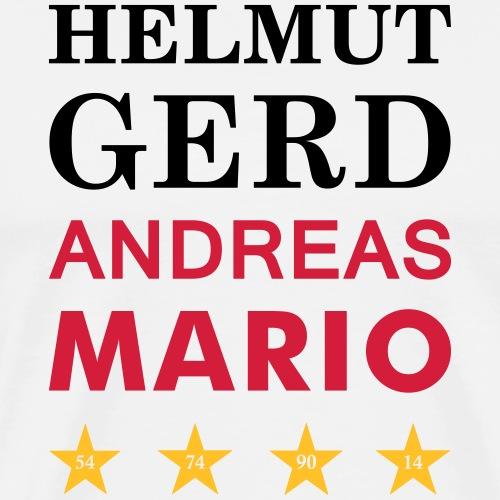 Helmut Gerd Andreas Mario Weltmeister - Männer Premium T-Shirt