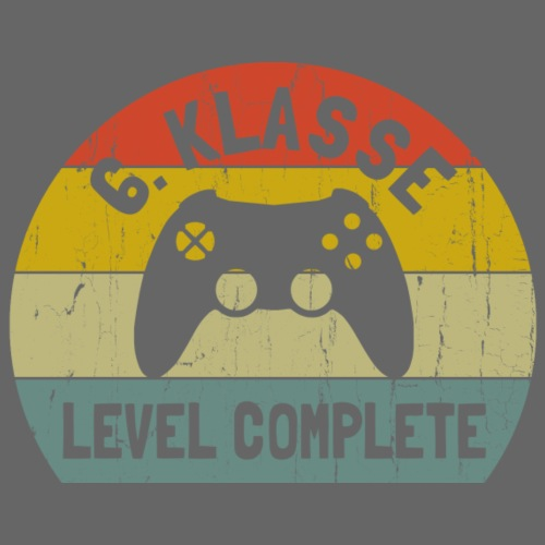 6. klasse, Level complete - Gamer Oberschule - Männer Premium T-Shirt