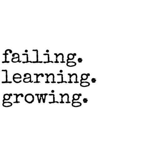 failing learning growing, Motivation, Weitermachen - Männer Premium T-Shirt