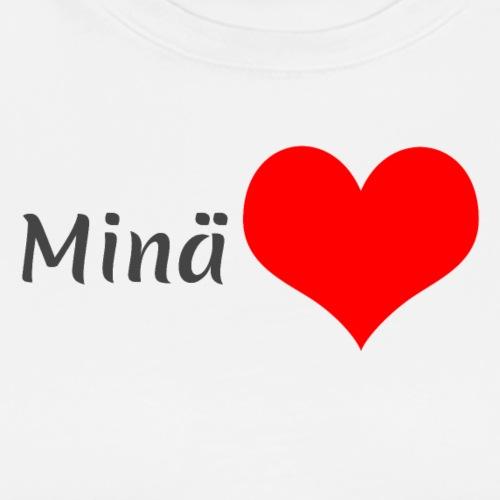 Minä sydän - Miesten premium t-paita