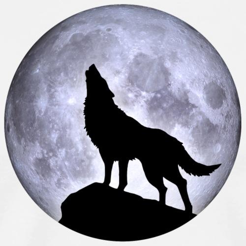 Wolf Vollmond Halloween Nacht Albtraum nightmare - Men's Premium T-Shirt