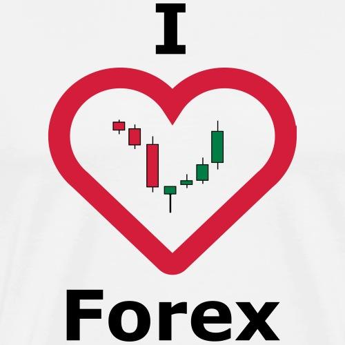 I Love Forex - Männer Premium T-Shirt