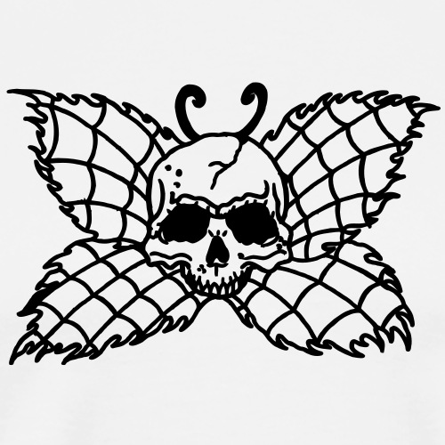 1 colors - Butterfly Skull Poison Deadly - Männer Premium T-Shirt