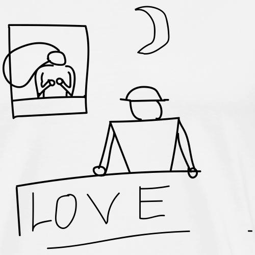 zwei liebende die sich aus dem Fenster anschauen - Männer Premium T-Shirt
