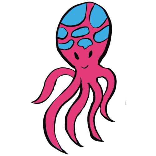 Pink octopus - Men's Premium T-Shirt