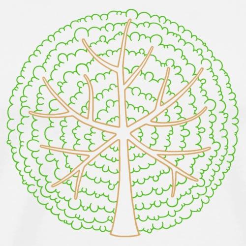 Baum, rund, grün - Männer Premium T-Shirt