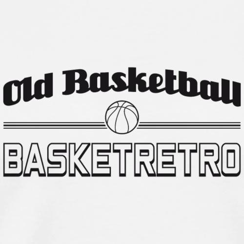 Old basketball monochrome noir - T-shirt Premium Homme