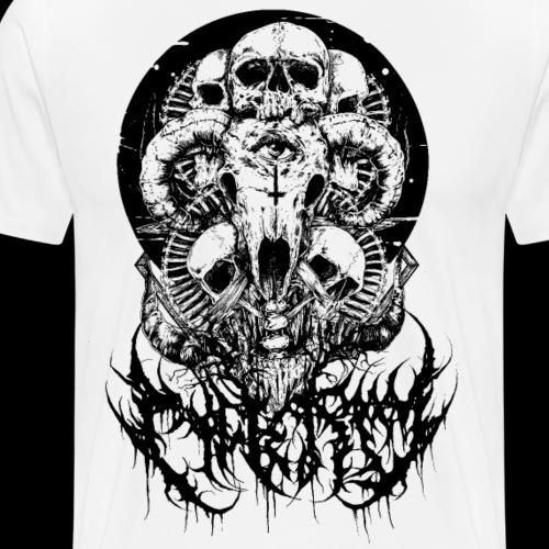 NEKRO Gore Logo 2 - Männer Premium T-Shirt