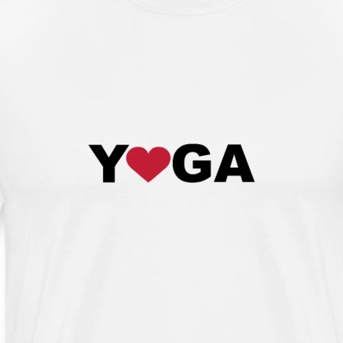 Yoga Love mit Herz - Männer Premium T-Shirt