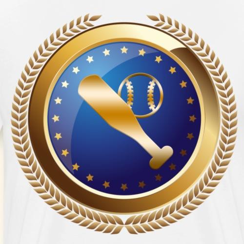 Baseball Sports Award Emblem - Men's Premium T-Shirt